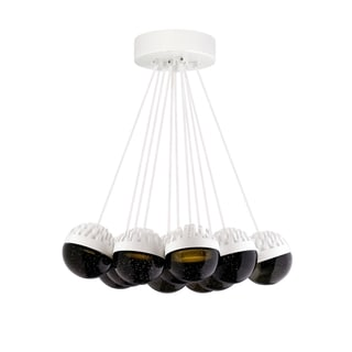 LBL Sphere 11 Light Rubberized White and Smoke Suspension
