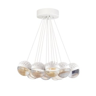 LBL Sphere 11 Light Rubberized White and Cast Clear Suspension