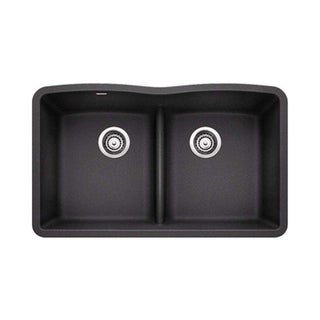 Blanco Diamond Anthracite Equal Double Low Divide Undermount Sink