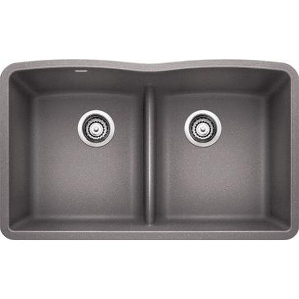 Blanco Diamond Cinder Equal Double Low Divide Undermount Sink