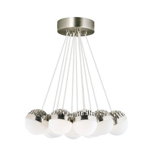 LBL Sphere 11 Light Satin Nickel and Frost Suspension