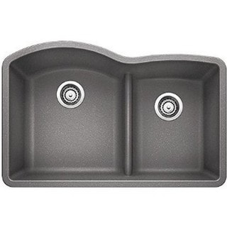 Blanco Diamond 1.75 Metallic Grey Granite Low Divide Undermount Sink