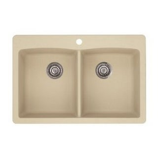 Blanco Diamond Silgranit II Biscotti Double Bowl Sink