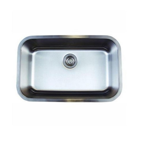 Blanco stellar stainless steel 18 inch x 28 inch x 9 inch - 18 inch kitchen sink ...