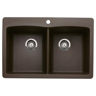 Blanco Diamond Cafe Brown Siligranit II Equal Double Bowl Sink