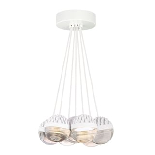 LBL Sphere 7 Light Rubberized White and Cast Clear Suspension
