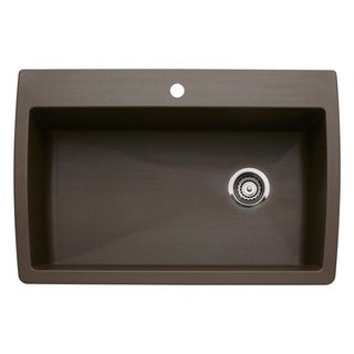 Blanco Diamond Super Caf Brown Granite Single Bowl Kitchen Sink