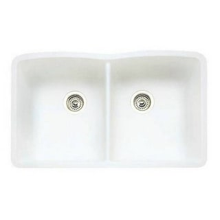Blanco Diamond Silgranit II White Double Bowl Sink