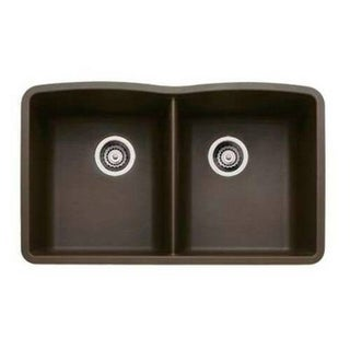 Blanco Diamond Silgranit II (Um) Caf Brown Equal-double Bowl