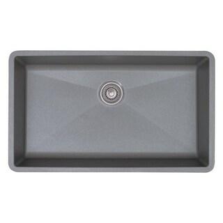 Blanco Precis Super Metallic Gray Single Bowl Sink