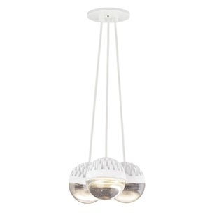 LBL Sphere 3 Light Rubberized White and Cast Clear Suspension