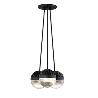 LBL Sphere 3 Light Rubberized Black and Cast Clear Suspension