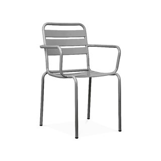 Paris Grey Metal Stackable Armchair (Set of 4)