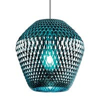 LBL Ornata 1 Light Aqua Satin Nickel Line-Voltage Pendant