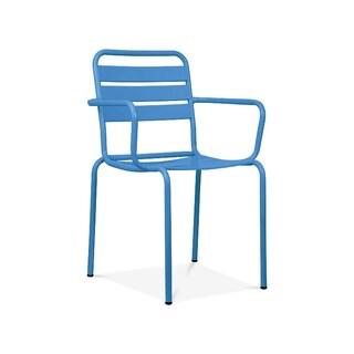 Paris Blue Metal 4-piece Stackable Armchair Set