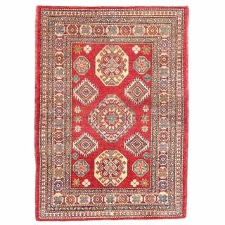 Herat Oriental Afghan Hand-knotted Kazak Wool Rug (3'4 x 4'8)