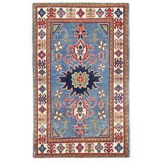 Herat Oriental Afghan Hand-knotted Kazak Wool Rug (3'1 x 5')