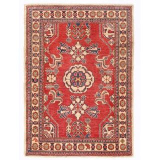 Herat Oriental Afghan Hand-knotted Kazak Wool Rug (3'5 x 4'8)