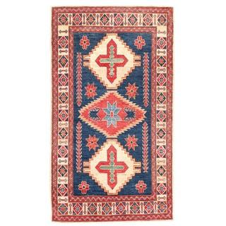 Herat Oriental Afghan Hand-knotted Kazak Wool Rug (3'6 x 6')