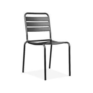 Paris Black Metal 4-piece Stackable Side Chair Set