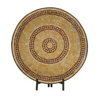 The Curated Nomad Biltmore Metal Mosaic Platter With Easel