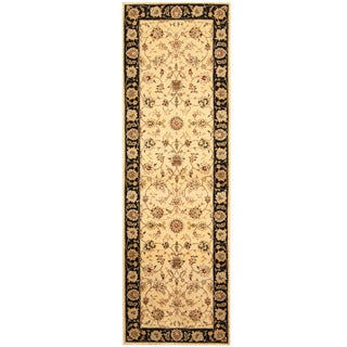 Herat Oriental Indo Hand-tufted Tabriz Wool and Silk Area Rug (2'5 x 8')