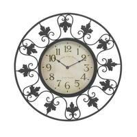 Gracewood Hollow Luci Decorative Metal Outdoor Wall Clock