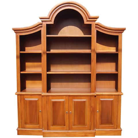 Handmade D-Art Arch Top Honey Bookcase (Indonesia)