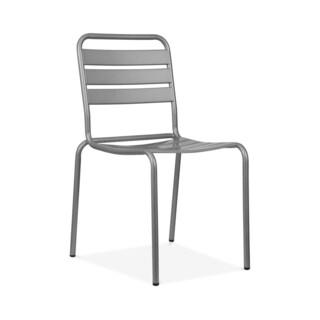 Paris Grey Metal Stackable Side Chair (Pack of 4)