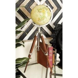 Coastal 22 Inch Decorative Globe with Tripod Stand by Studio 350 - N/A