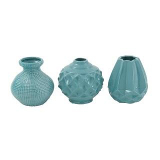 Clay Alder Home Mendota Blue Ceramic Vase - 3 Assorted
