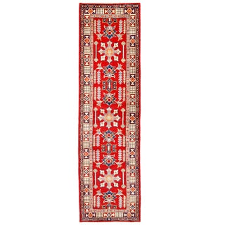 Herat Oriental Afghan Hand-knotted Kazak Wool Runner (2'8 x 9'10)