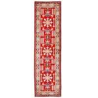 Handmade Herat Oriental Afghan Kazak Wool Runner (Afghanistan) - 2'8 x 9'10