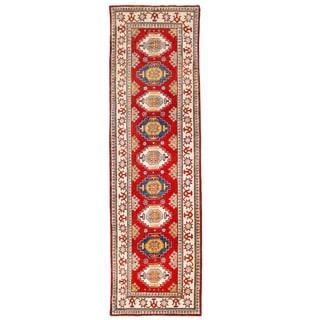 Herat Oriental Afghan Hand-knotted Kazak Wool Runner (2'6 x 9'11)