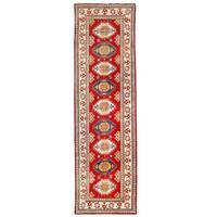 Handmade Herat Oriental Afghan Kazak Wool Runner (Afghanistan) - 2'6 x 9'11