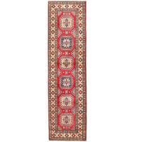 Herat Oriental Afghan Hand-knotted Kazak Wool Runner (2'11 x 10'11)