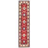 Handmade Herat Oriental Afghan Kazak Wool Runner (Afghanistan) - 2'9 x 11'5