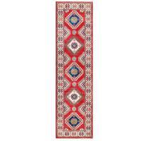 Handmade Herat Oriental Afghan Kazak Wool Runner (Afghanistan) - 2'7 x 9'7