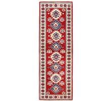Herat Oriental Afghan Hand-knotted Kazak Wool Runner - 2'1 x 6'2