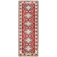 Handmade Herat Oriental Afghan Kazak Wool Runner  - 2'1 x 6' (Afghanistan)