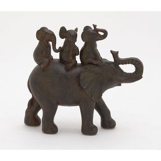 The Curated Nomad Merced Elephant Family Resin Figurine