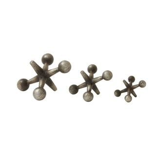 Classy Metal Silver Jacks (Set Of 3)