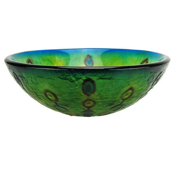 Fontaine Celestial Burst Glass Vessel Bathroom Sink