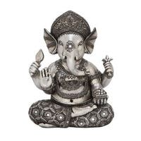 The Curated Nomad Castenada Ganesh Antique Silver Statue