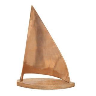 Chic Aluminum Wood Copper Sailboat