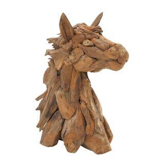 Carbon Loft Priscilla Natural Wood Horse Head