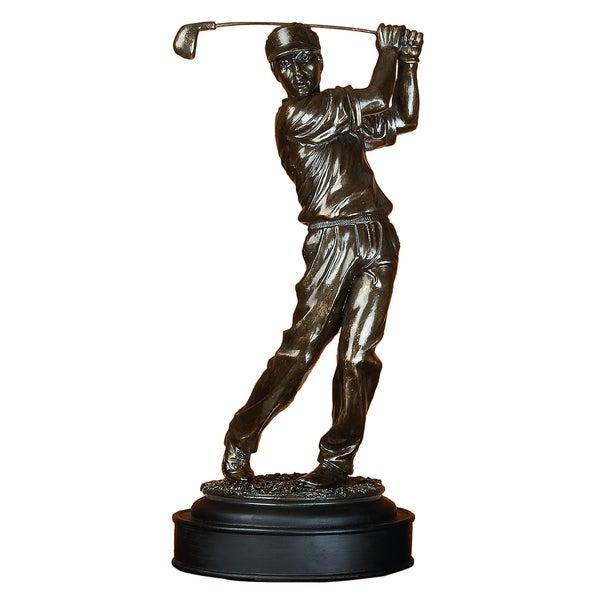 Copper Grove Chatfield Polystone Male Golfer Modern Art Passion