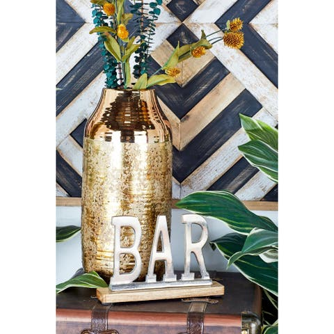 Beautiful Metal Wood Bar 10 inches wide 6 inches high