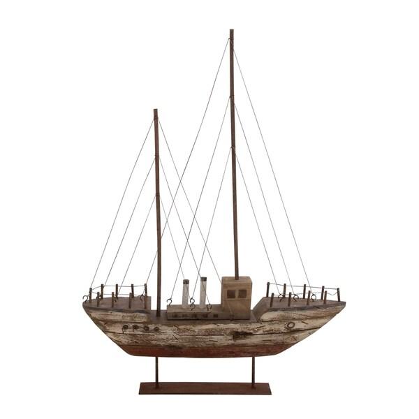 Customary Styled Wonderful Wood Metal Boat
