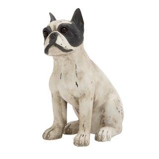 Superb Unique Styled Polystone Sitting Dog